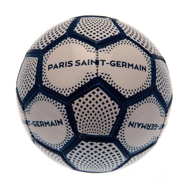 Paris Saint Germain Diamond Mini läderboll storlek 1 vit / blå