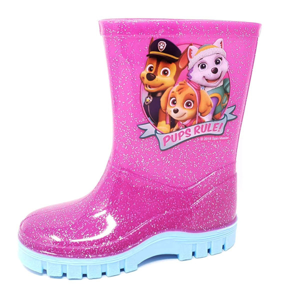 Paw Patrol Flickor PVC Wellingtons 5 UK Child Pink / Aqua
