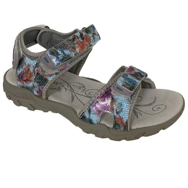 PDQ Kvinnor / damer Halter Back Leather Sports Sandal 4 UK Grå /