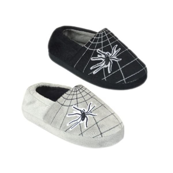 Pojkar Spiderweb tofflor 11-12 UK Child Svart