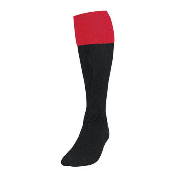 Precision Unisex vuxna fotbollsstrumpor 7 UK-11 UK Svart röd