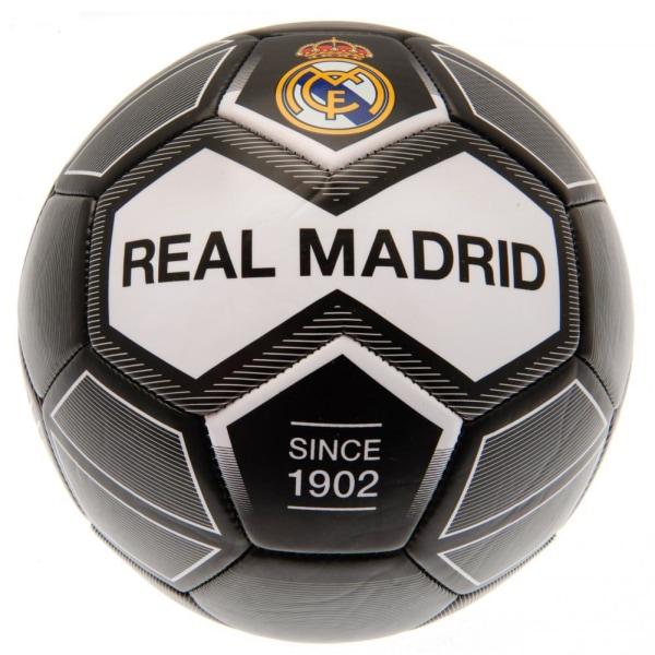 Real Madrid CF Fotboll One Size Svart / Vit