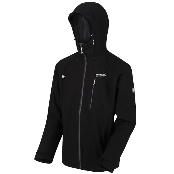 Regatta Mens Birchdale Waterproof Hooded Jacket L Svart / Magnet
