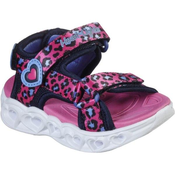Skechers Girls S Lights Heart Savvy Cat Sandal 6 Child UK Hot Pi