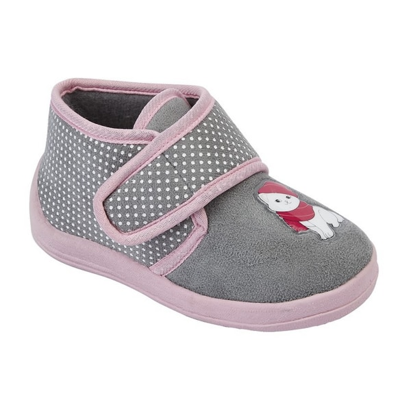 Sleepers Barnflickor Whiskers Touch Fastening Cat Bootee Tofflor