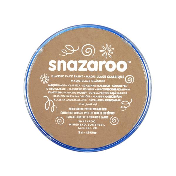 Snazaroo Face Paint Tub (paket med 5) One Size Ljusbeige