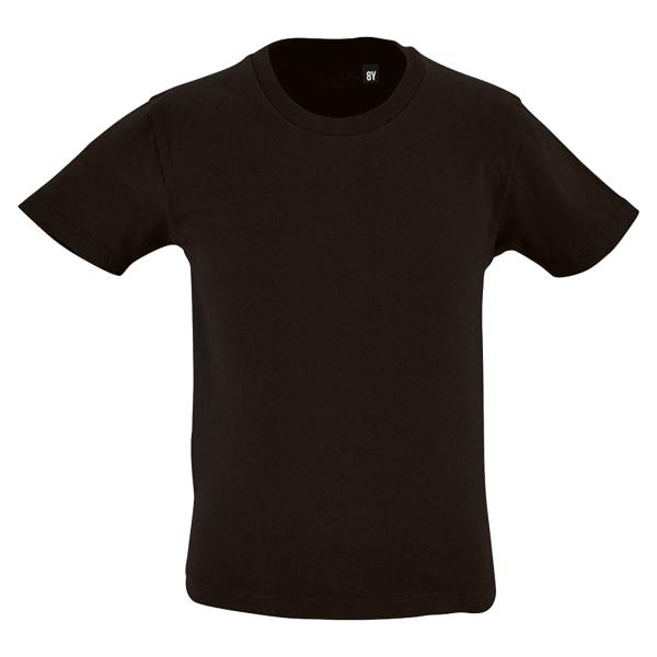 SOLS barnens Milo ekologisk T-shirt 8 år djup svart