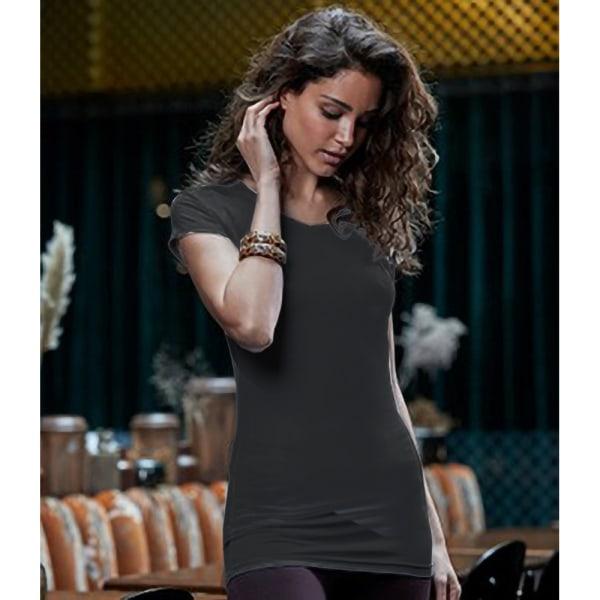 Tee Jays Dam- / dammodesträcka lång längd T-shirt L Svart