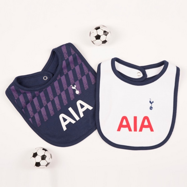Tottenham Hotspur FC Baby 2019/20 Kit Bib (Pack Of 2) One Size N