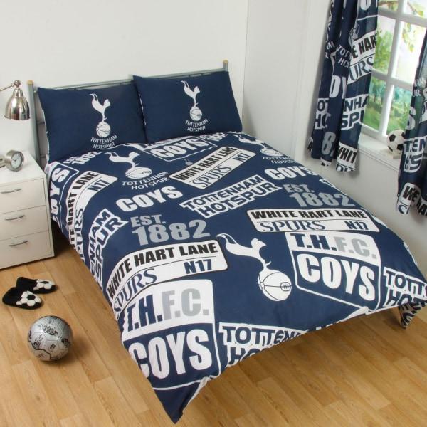 Tottenham Hotspur FC Officiell Patch Fotboll Crest Täcke Set för