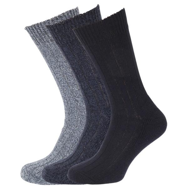 Ullblandade strumpor för herrar med ull vadderad yttersula (pake