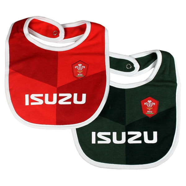 Wales RU Baby Haklappar (paket med 2) One Size Röd svart