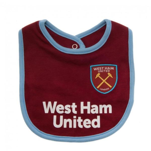 West Ham United FC Baby Haklappar (paket med 2) One Size Vit / L
