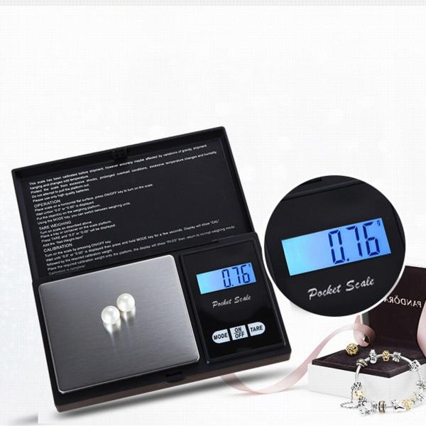 Bärbar minikök digital skala ultratunn multifunktionell 100g/0.01g