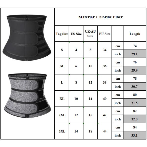 Woman Shapewear - kroppsformning för korsett för bälte i midjebältet rose red 3XL