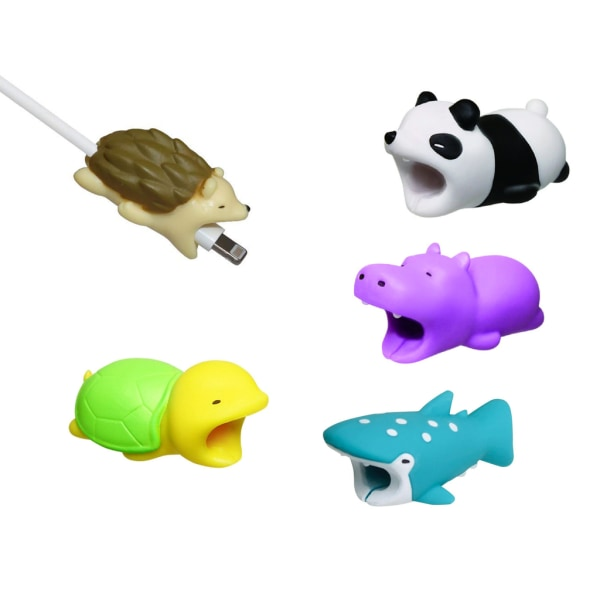5 x Animal Protectors for cables - Kabelskydd  MultiColor one size