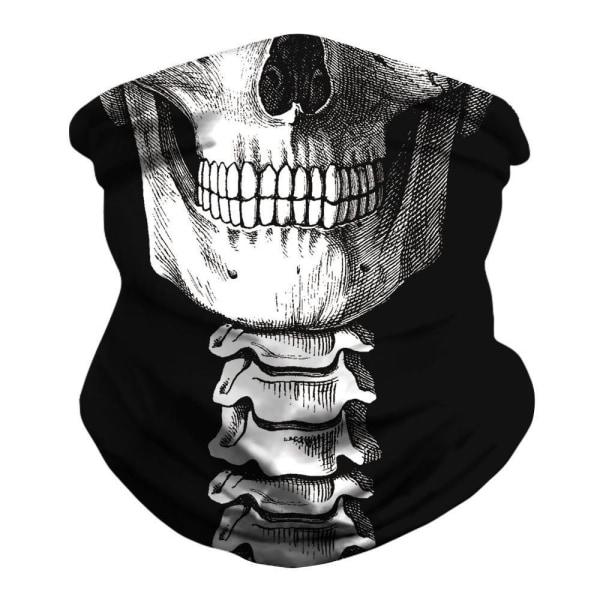 Skull Bandana - Multifunktionsscarfs grå one size