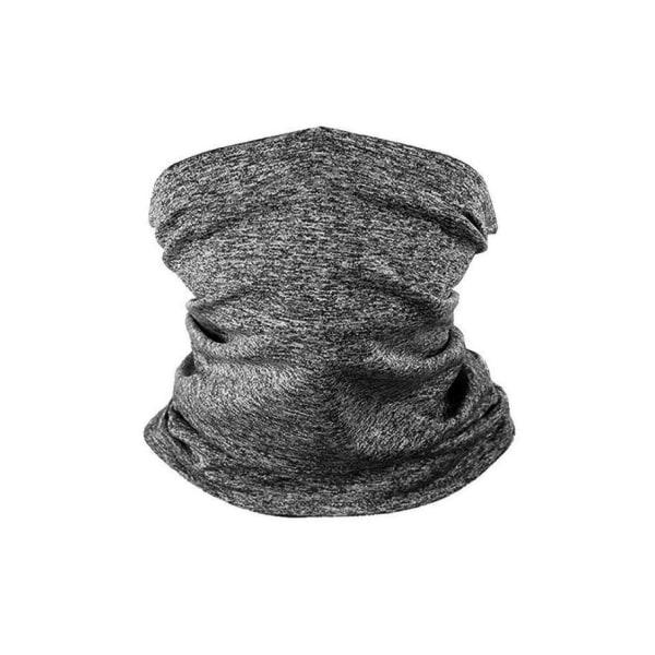 Klassisk bandana med filterficka (tio extra kolfilter) DarkGrey one size