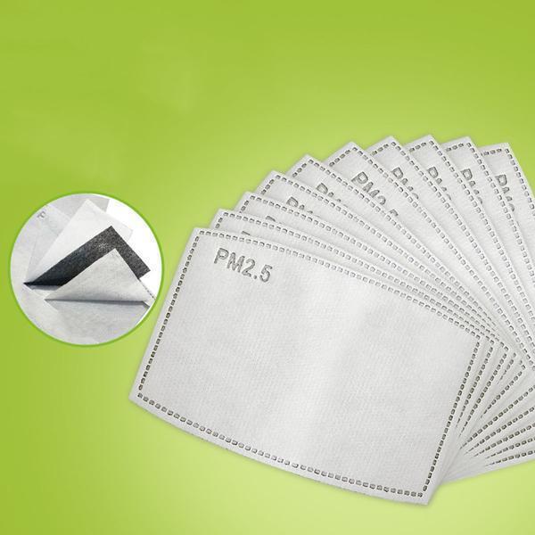 PM2.5-maskfilterinsats - 100 Pack Vit one size