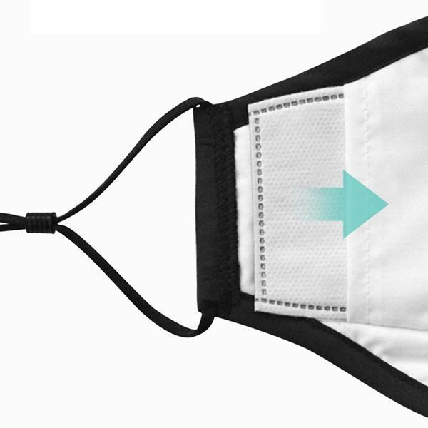 PM2.5-maskfilterinsats - 50-pack Vit one size