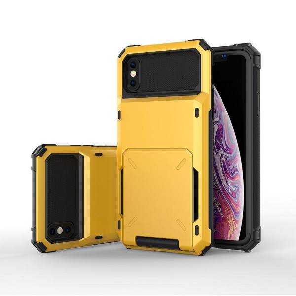 Shockproof Rugged Case Cover till Iphone Xs Max grå