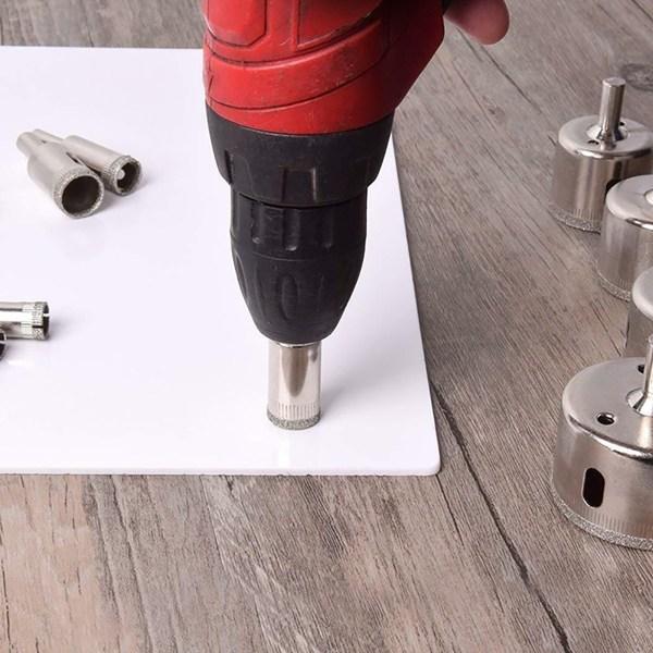 10st diamantbelagda borrkakelverktygssats för keramiskt glas 10pcS