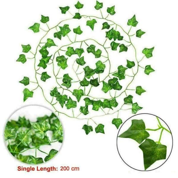 12st vägghängande växter falska blad hem inomhus utomhus dekor 12PCS