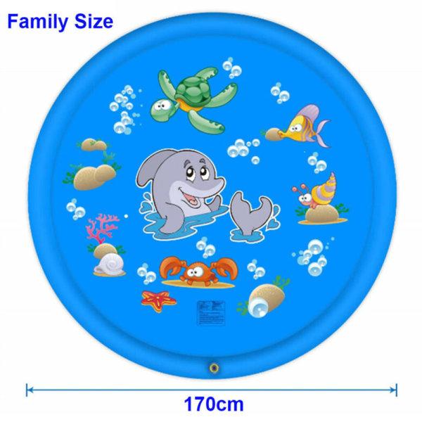 170cm uppblåsbar sprinkler pad / vattenspray pad lekmatta sommar 170 cm