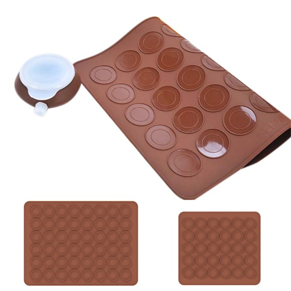 30/48 Bakning Silikon Macaron Sheet Mat Mould Non Tray Stick