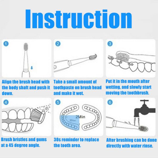 4-pack Elektriska tandborstetillbehör Tandborsthuvudladdning 4pcs