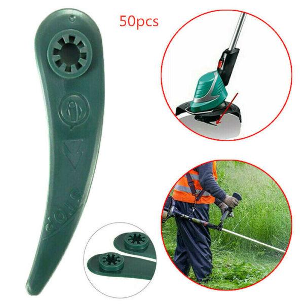 50PCS Mower Cutting Blades Fits Trimmer Blades For Home Garden 50 PCS