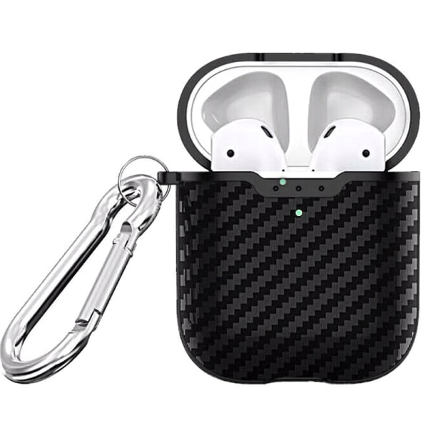Apple AirPod Earpods Wireless Charging Carbon Fiber Case Cover dark green