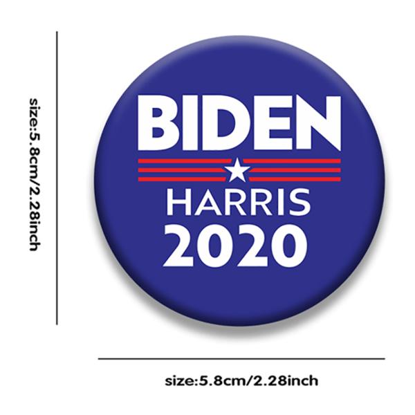 Biden Harris 2020 President Brosch Badge Activity Sign Accessory A