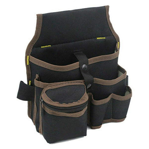 Electrician Multi Pocket Belt Tool Pouch Bags Toolkit Holder Brown