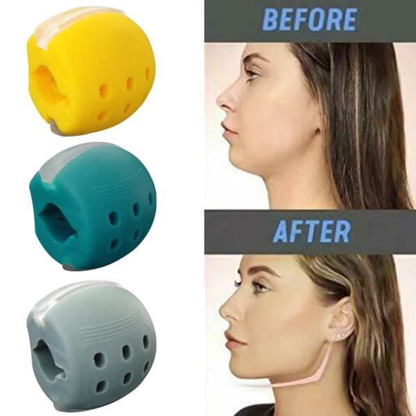 Face Exerciser Exercise Facial Toner Fitness Ball Neck Toner Cyan