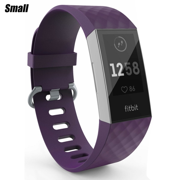 For Fitbit Charge 3 Wristband Replacement Accessory Watch Band Dark Purple Smoll
