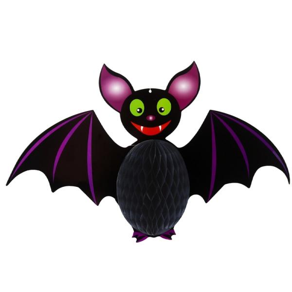 Halloween Hanging Honeycomb Ball Pendant Decor Atmosphere Bat