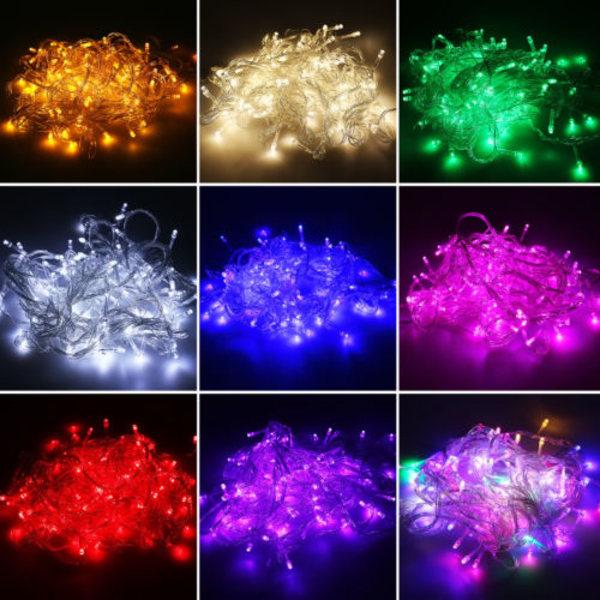 String Fairy 110V Decor Lamp String Lights Green 100pcs-10M