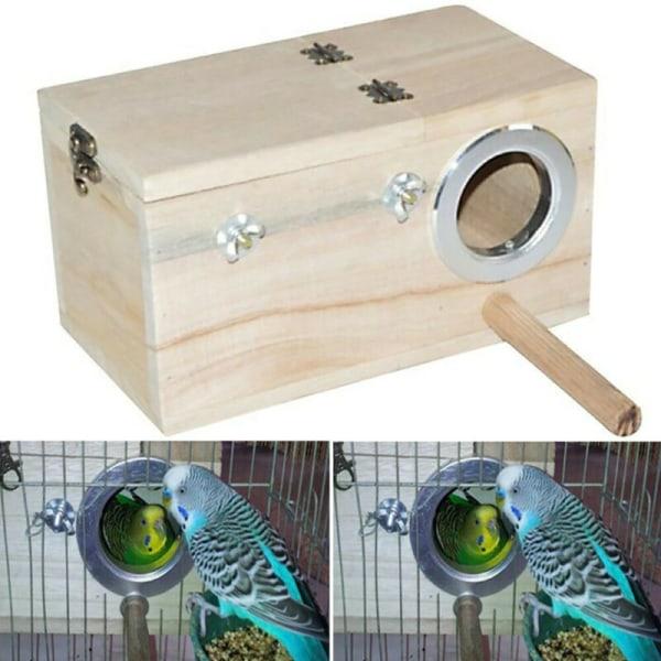 Wooden Nest Pet Parrot Budgies Parakeet Box Bird Supplies Nest