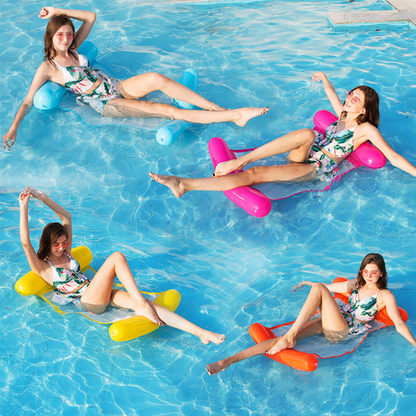 Inflatable Floating Water Hammock Chair Pink