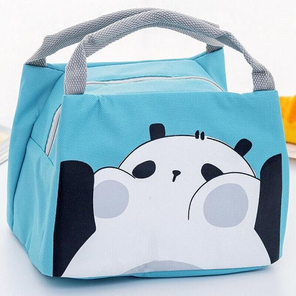 Barn Barn Tecknad Lunch Väska Box Och Dryck Flaska Set