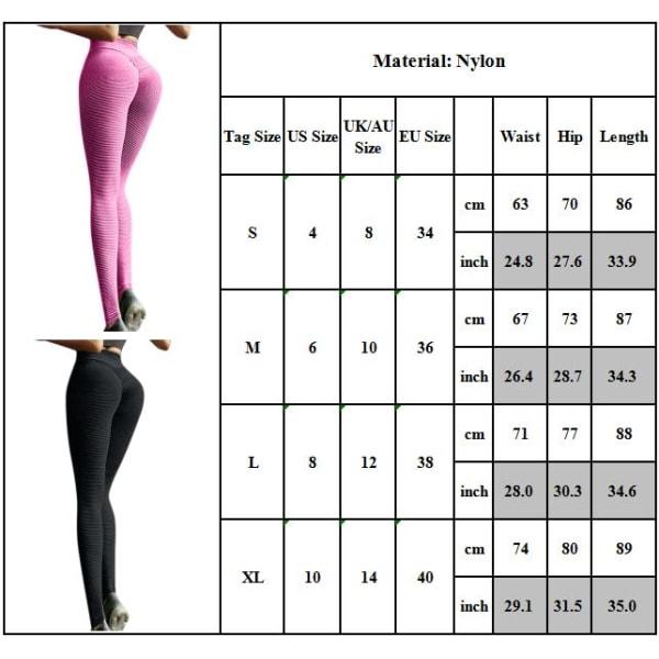 Ladies Yoga Pants Gym Leggings Sports Jogger Fitness Trousers Black L