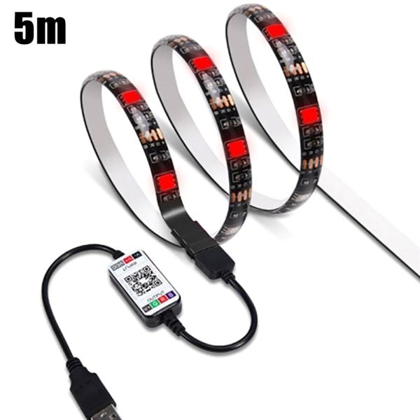 LED Strip Lights Bluetooth APP Remote 5050 Color Xmas Home Decor 5m