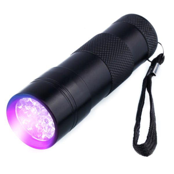 Mini UV Ultra Violet LED Flashlight Torch Black