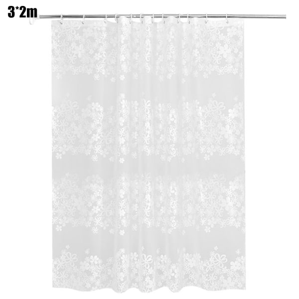 Modern Waterproof Thickened Bathroom Shower Curtain Set 300*200cm
