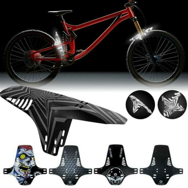 2pcs Bike MTB Front Rear Fender Mudguard Guard Set Mountain Bike Bicycle Mud