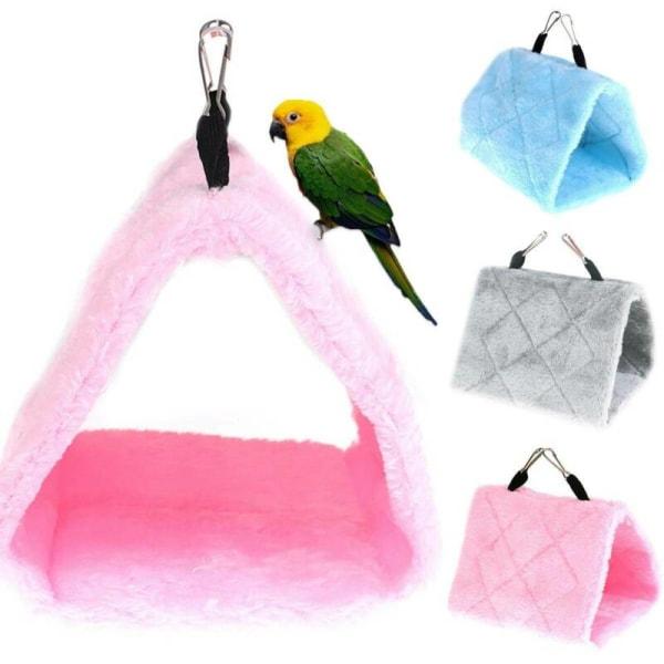 Pets Bird Parrot Parakeet Budgie Warm Tent Bed Hanging Cave Toy light grey 19*11*13cm