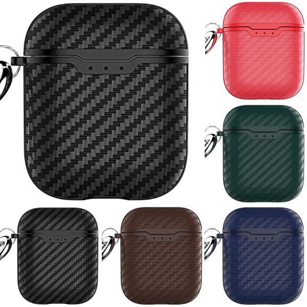 Protective Carbon Fibre Apple Airpod Case Cover Skin Box Airpods Royal blue