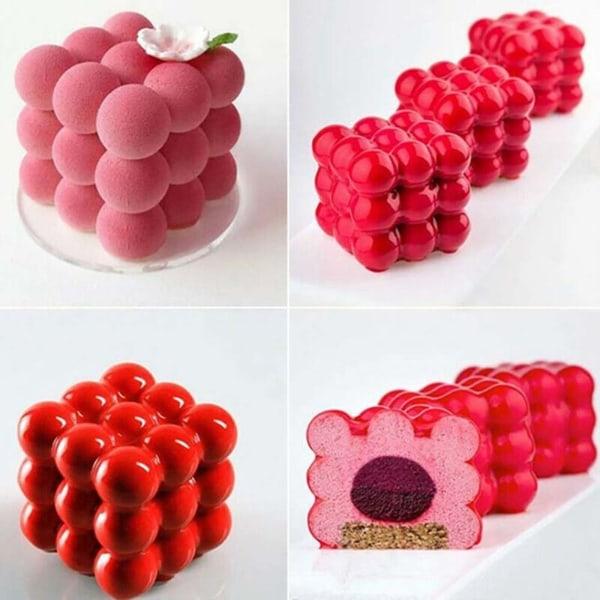 Silikon fyrkantig form chokladkaka DIY bakning 3D mögel
