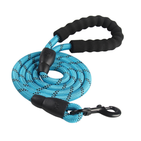 Soft Padded Handle Pets Rope Black 150*1.2cm
